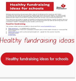 NHF Healthy fundraising ideas for schools